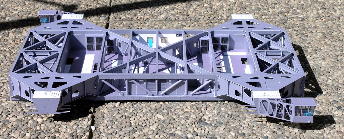 The chassis of the crawler model