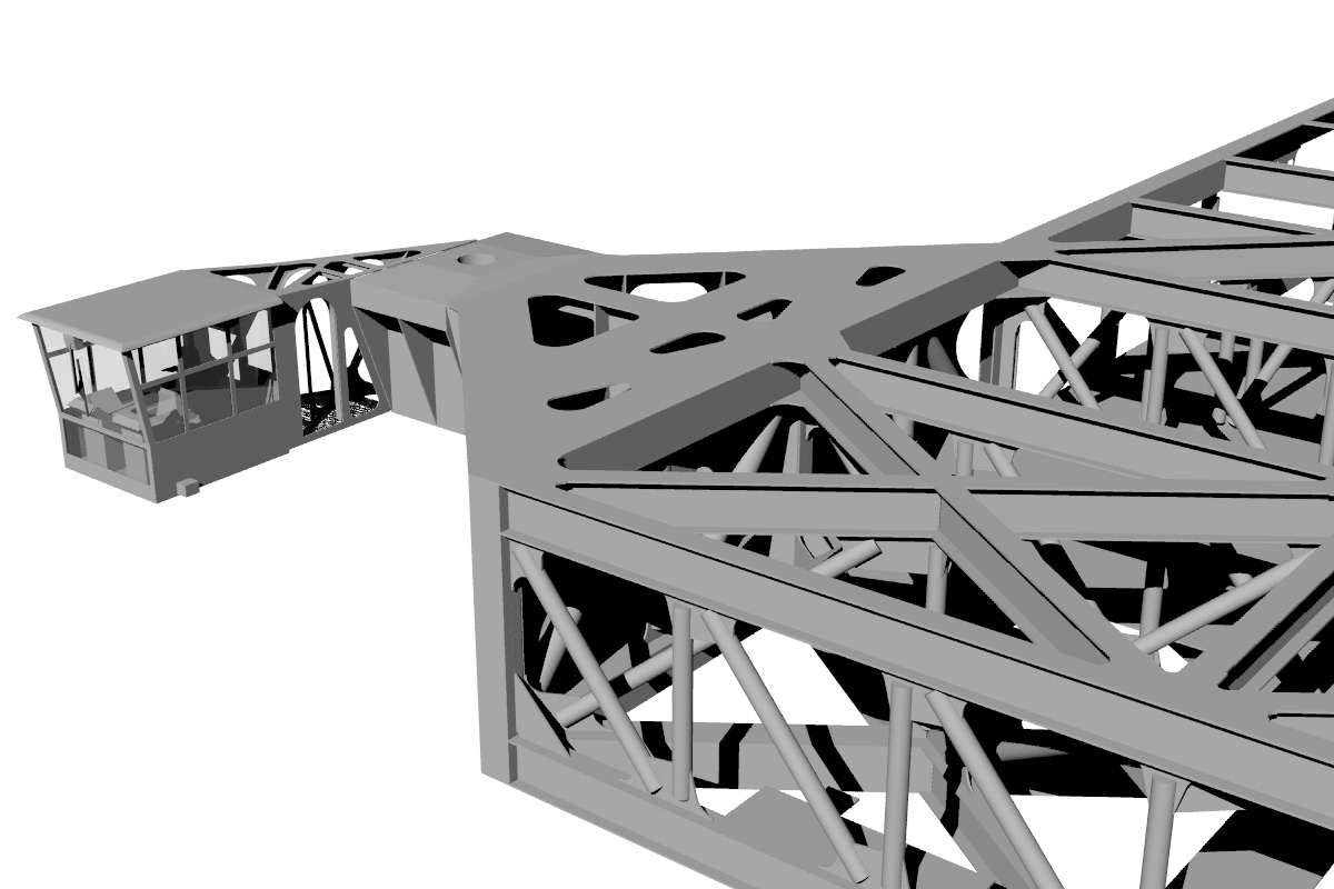 Construction detail of the model in Rhino3D