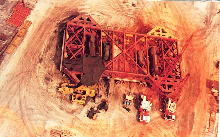 The crawler in the construction phase - Courtesy of NASA