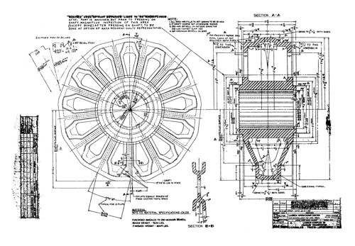 Original design document of the Main Sprocket. Courtesy of NASA