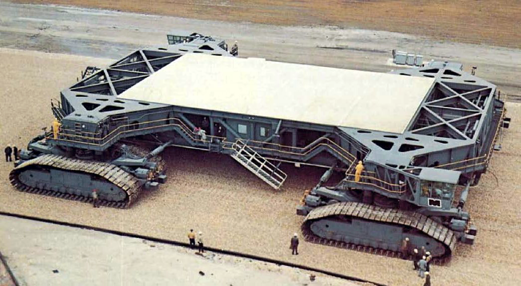 Crawler Transporter at KSC around 1966. Courtesy of NASA