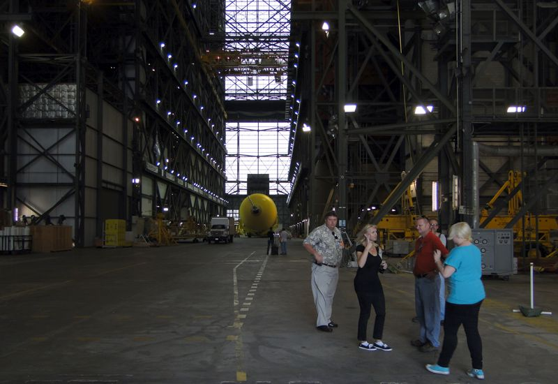 At the Gate of the VAB