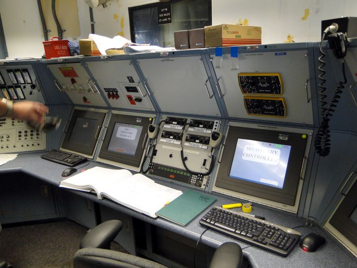 Engineer Control Room of the Crawler Transporter