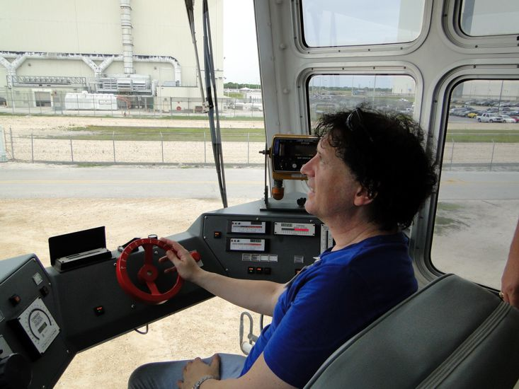 Inside the Cab of the Crawler Transporter